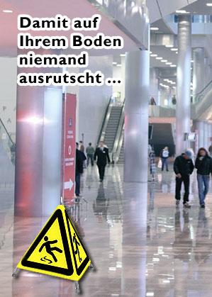 RUTSCHHEMMUNG - nachtr�glich und dauerhaft! BODENGRIFF Fliesen- + Steintechnik GmbH bietet PROFI L�SUNGEN (staatlich gpr�ft)